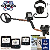 "Whites TreasurePro Metal Detector with 10"" DD Waterproof Coil and Dual Volume Control Headphones"
