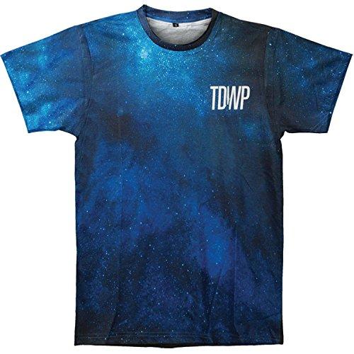 (Devil Wears Prada Men's Allover Print T-shirt Medium Blue)