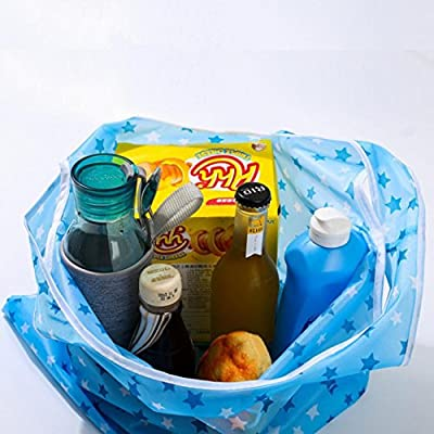 Ecosin Eco Handbag Foldable Reusable Nylon Storage Travel Shopping Tote Grocery Bags
