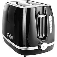 Black + Decker BXTO0202IN 870-Watt 2 Slice Pop-up Toasterwith Bun Warmer (Black)