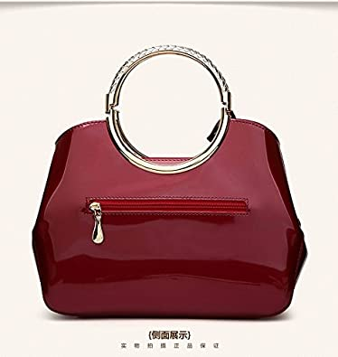 HYP Handmade Leather Tote Bag Travel Bag/&Computer Bag For Women Painted Leather Tote Bag Off Of Female Single Shoulder Oblique Cross-Package