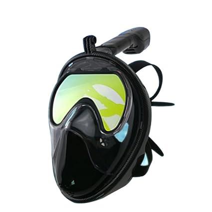 Máscara De Buceo Con Vista Despejada Respiración Sin Esfuerzo Con Protección Antiniebla Anti-Fugas Labio