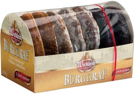 Wicklein Burggraf Lebkuchen, Triple Sort - 200g/7.0 Oz