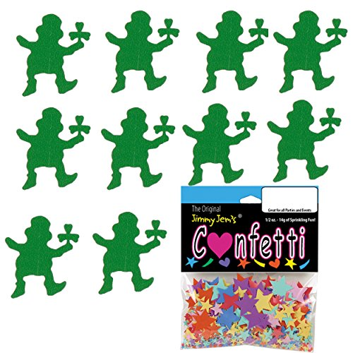 Confetti Leprechaun Green - 2 Half Oz Pouches (1 oz) FREE SHIPPING --- - Days Mail Priority Is How Many