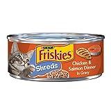 Purina Friskies Gravy Wet Cat Food; Shreds Chicken & Salmon Dinner in Gravy - 5.5 oz. (pack of 24)