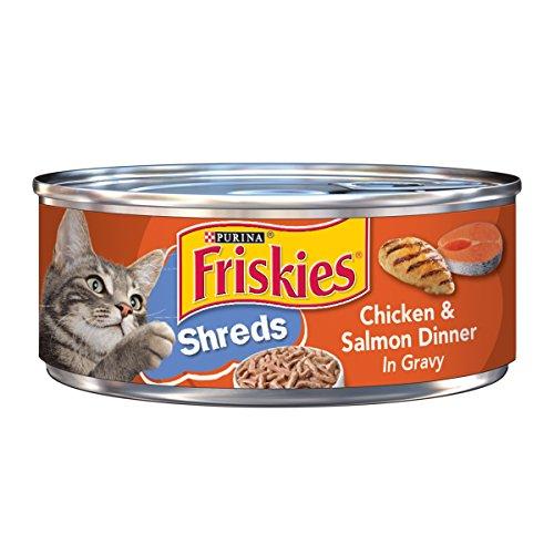 Friskies Savory Shreds Chicken and Salmon Dinner in Gravy Ca