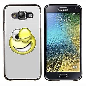 EJOOY---Cubierta de la caja de protección para la piel dura ** Samsung Galaxy E5 E500 ** --Smiley divertido 3D
