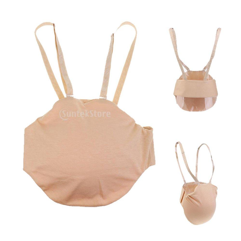 Sharplace 4 Stück Set Silikon Babybauch Schwangerschaft Künstliche Silikonbauch Kostüm Bauch in verschiedenen Gr