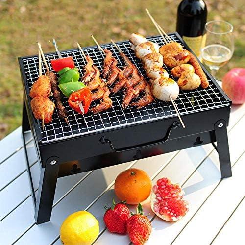 zhongleiss Barbecue Au Charbon Barbecue dans Le Jardin Petit Barbecue en Acier Inoxydable, Barbecue Au Charbon De Bois, Mini Grill Extérieur en Carbone