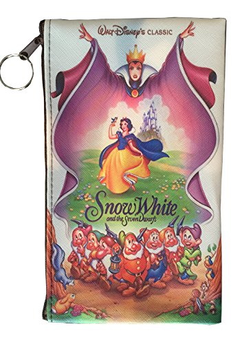 Disney Little Mermaid, Snow White, Alice in Wonderland, Lilo & Stitch, Beauty and the Beast, Peter Pan, Frozen, Mickey & Minnie, Villains Zipper Pouch (8inch x 4inch) (Snow White) ()