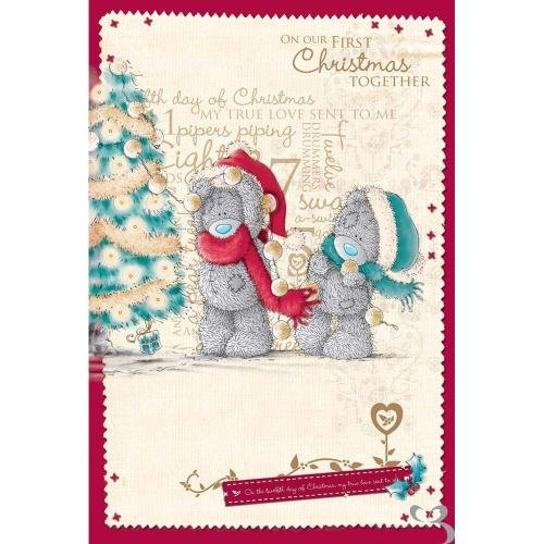 First Christmas Together Me to You Bear Card: Amazon.co.uk: Toys ...