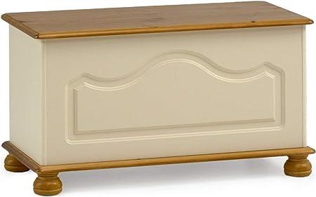 Steens Richmond Cream /& Pine Ottoman Blanket Box Toy Chest by Richmond