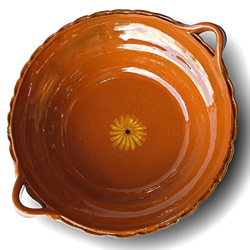 Mexican Clay - Mexican Unlidded Clay Cazuela - 3 qt