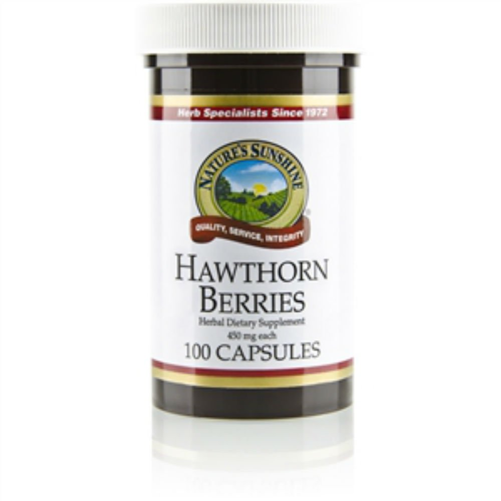 Naturessunshine Hawthorn Berries Circulatory System Support 450 mg 100 Capsules (Pack of 6)