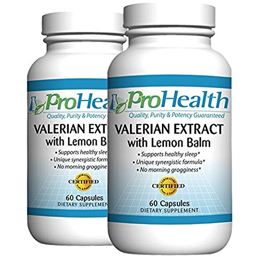 xtract + Lemon Balm 2-Pack (60 Capsules per Bottle) 160 mg Valerian + 80 mg Lemon Balm | Relaxation & Sleep Support | No Morning Grogginess | Stress & Anxiety Relief | Vegan ()