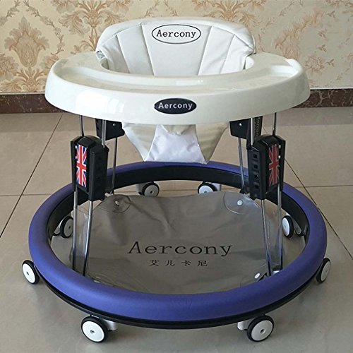 Baby Walkers With Wheels Multi-Function Child Anti-Rollover Baby One-Touch Folding Learn To Drive 3Rd Gear Adjustable,D