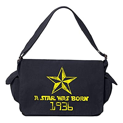 c09f11c9f7 low-cost Tenacitee A Star Was Born 1936 Brushed Canvas Messenger Bag ...