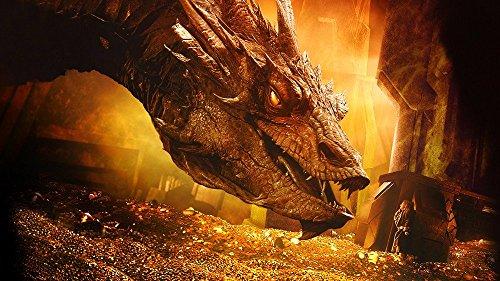 Innerwallz The Hobbit: The Desolation of Smaug Dragons Gold Wall Art, Pop Art, Poster, Art Prints | Rare Posters