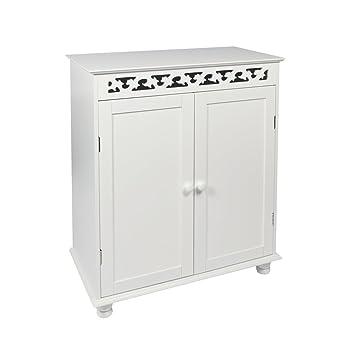 Woodluv Mdf Fretwork Double Door Free Standing Storage Cabinet Wood