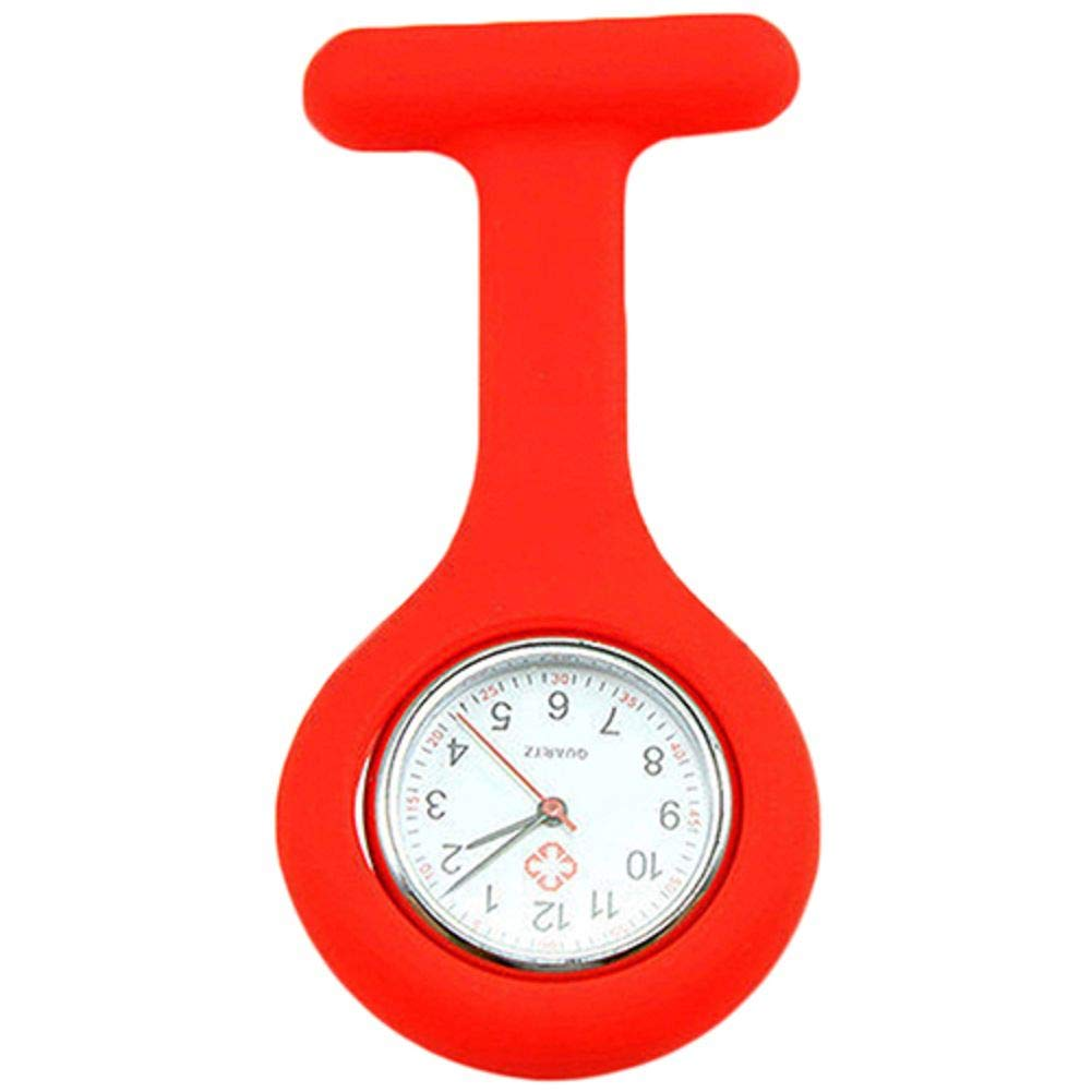 Cute Silicone Nurse Watch Brooch Fob Pocket Tunic Quartz Movement Watch