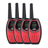 QTKJ 2 Way Radios Walkie Talkies GMRS Walky Talky long rang two way Radios 3KM distance Walky Talkys for Kid boys girls children Toy (4-Packs)