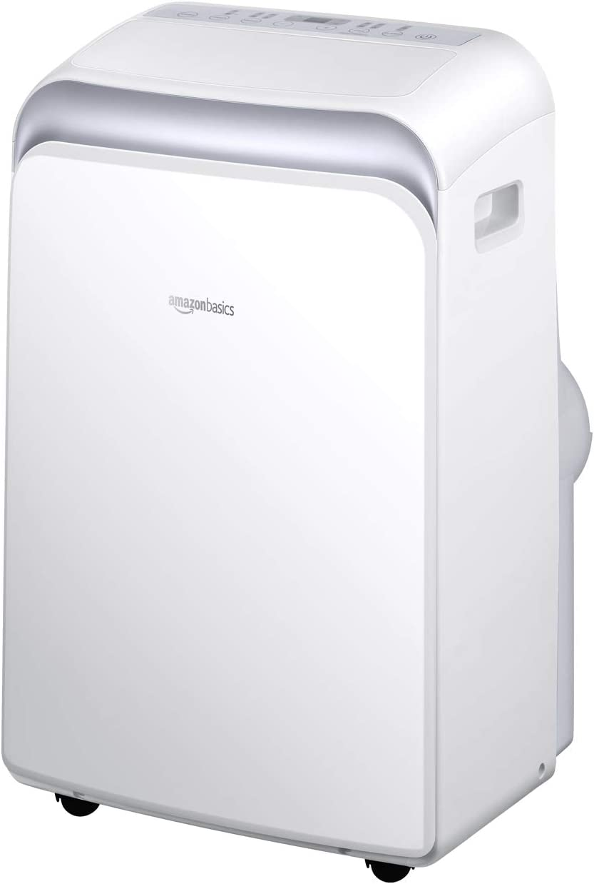 AmazonBasics Portable Air Conditioner with Remote - Cools 450 Square Feet, 10,000 BTU ASHARE / 6000 BTU SACC
