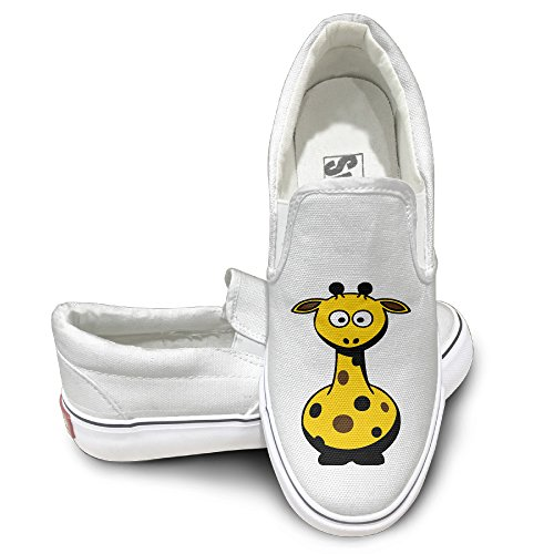 Unisex Funny Fat Giraffe Darr High Top Sneakers Canvas Shoes Design Sport Shoes Funny White (Hype Man Costume)