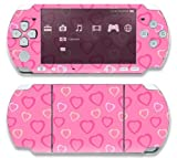 Sony PSP Slim 3000 Decal Skin - Pink Hearts by