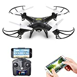 Review of Holy Stone HS110 FPV RC Drone with Camera 720P HD Live Video WiFi 2.4GHz 4CH 6-Axis Gyro RC Quadcopter with Altitude Hold, One Key Return and Headless Mode Function RTF, Color Black