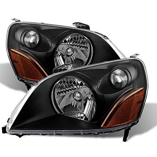 VIPMOTOZ Black Housing OE-Style Headlight Headlamp Assembly For 2003-2005 Honda Pilot, Driver & Passenger Side