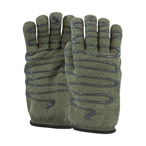 Hot Knit Mill (Kevlar / Preox Seamless Knit Hot Mill Glove with Terry Cotton Liner and Double-Sided SilaGrip Coating - 32 oz 43-851L, (24))