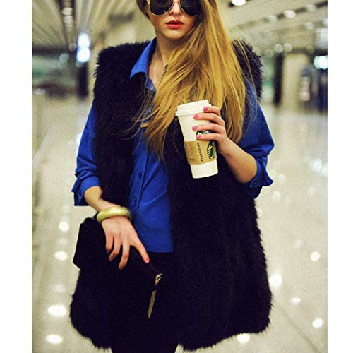 Libero Giorno Parigine Sintetica Giacca Pelliccia Canottiera Elegante Tempo Alta Fashion Vita Donna Moda Smanicato Autunno Primaverile Nero Di Gilet Giovane g7qz66