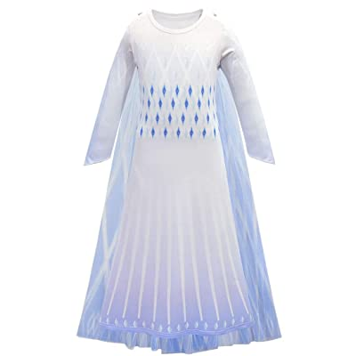 Children Princess Cosplay Dress Costume Tulle Robe for Girls Party Long Sleeve Dress Up Clothes: Clothing