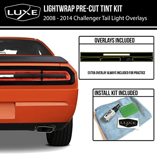 (Luxe Auto Concepts 2008-14 Challenger Tail Light Tint Kit (Dark Smoke Stealth))