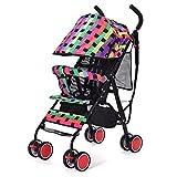 Baby Strollers Ultra-light Portable Folding Sit High Landscape Childrens Wheelbarrow (colorful) 61 47 97cm