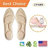 Shoe Insoles Women,Cushioned Insoles Breathable*New Material* 5D Sponge Barefoot Comfort Insoles and High Heel Inserts, for Massaging, Arch Pain and Foot Pain Relieve(2 Pairs)