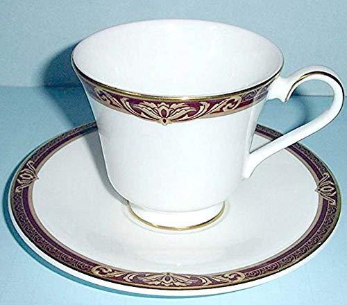 Royal Doulton Tennyson Footed Tea Cup & Saucer Set