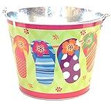 Galvanized Flip Flops Ice Bucket