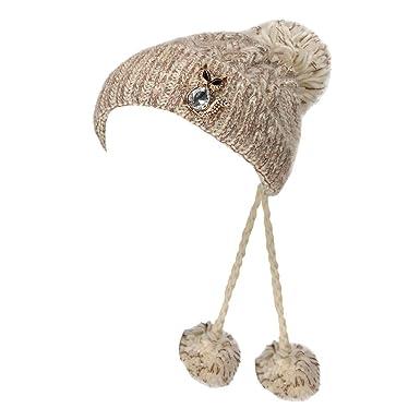 Womens Hats Toamen Retro Winter Warm Faux Fur Knit Beanie Baggy Crochet Ski  Cap 58b57a36c