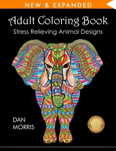 Adult Coloring Book: Stress Relieving Animal Designs cover