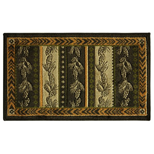 - Studio Designs Plush Carved Accent Rug, Skid Resistant, 96
