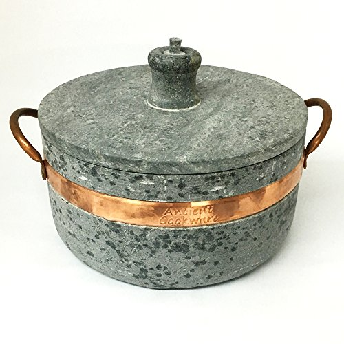 Brazilian Soap Stone Semi-Pressure Cooker - Panela de Pedra de Pressao by Ancient Cookware