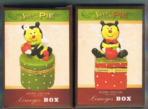 Two Honey Bear Limoges Boxes
