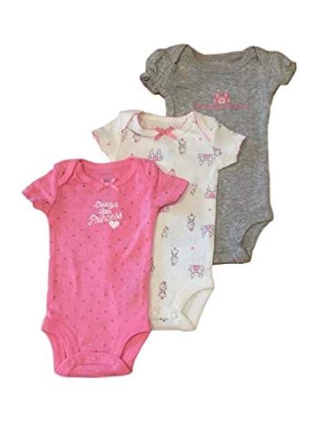 b4caa8bc9 Child of Mine Carters Preemie Baby Girl Bodysuits Daddys Little Princess,  3pc (Preemie)