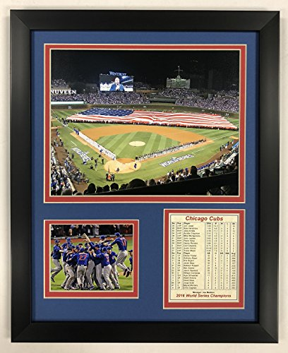 Legends Never Die Chicago Cubs - 2016 World Series - Wrigley Field - Framed 12