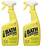 Jelmar Pb-Bk-2000 Clr Fresh Scent Bath And Kitchen Cleaner, 26 Oz Trigger Spray Bottle 2pack