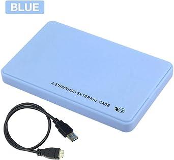 Caja de disco duro Caja 2.5 pulgadas USB3.0 5Gbps SATA HDD SSD Caja externa móvil para PC de escritorio portátil: Amazon.es: Iluminación
