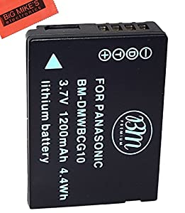 BM Premium DMW-BCG10 Battery for Panasonic Lumix DMC-ZS20 Digital Camera + Micro Fiber Cleaning Cloth