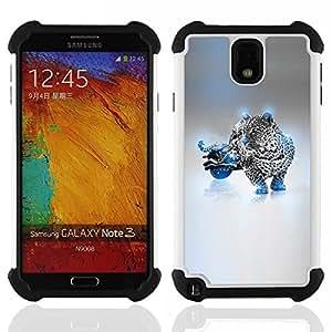 For Samsung Galaxy Note3 N9000 N9008V N9009 - Blue Cheetah Hybrid Dual Layer caso de Shell HUELGA Impacto pata de cabra con im??genes gr??ficas Steam - Funny Shop -