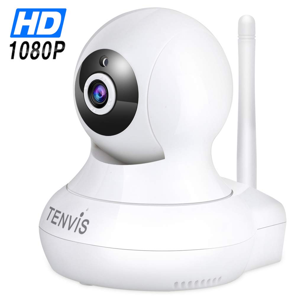WiFi Surveillance IP Security Camera – TENVIS Wi-Fi IP Camera Surveillance Camera System Wireless HD 1080P Security Cam Home Dome Baby Elder Pet Nanny Monitor with Pan Tilt Two-Way Audio Night Vision